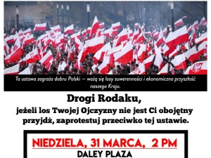 Wielki protest Polonii w USA przeciwko ustawie 447. Chicago, NY, LA, Filadelfia, Boston, Hartford