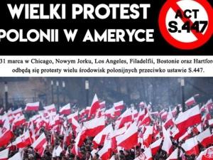 To już dziś. NY, Chicago, Boston, Los Angeles, Filadelfia... Protest Polonii w USA przeciwko S.447