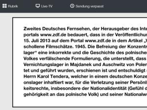 """ZDF przeprasza byłego więźnia niemieckiego obozu koncentracyjnego Auschwitz za """"polskie obozy"""""""