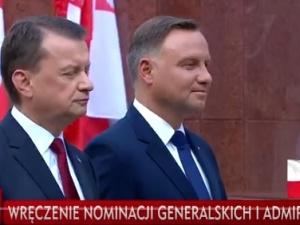 Prezydent w Święto Wojska Polskiego wręczył w Katowicach nominacje generalskie
