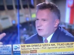 [video] Kaleta usiłował w TVN24 wspomnieć o Soku z Buraka i Jachirze. Nerwowa reakcja prowadzącego