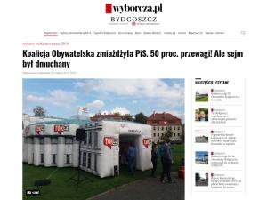 """TOK FM zrobił sobie na pocieszenie dmuchany Sejm, w którym """"KO zmiażdżyła PiS"""""""