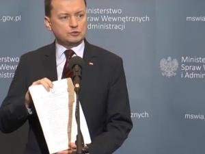 Min. Błaszczak o ustawie uszczelniającej granice: Chodzi o procedury ułatwiające wydalanie z Polski