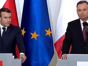 """Ma tupet. Macron: """"W rozmowie wyraziłem swoje zaniepokojenie ws. reformy sądownictwa. Chciałbym..."""""""