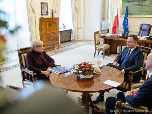 Spotkanie Prezydenta RP z Henryką Bochniarz
