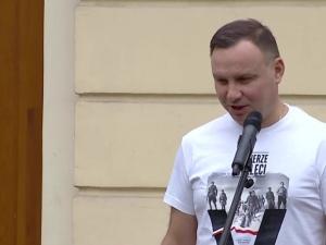 Andrzej Duda w Mińsku Mazowieckim. Zadymiarze z KOD niestety też