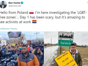 """Uwaga Fake News! """"Korespondent LGBT"""" BBC: """"Witam z Polski. Badam """"strefy wolne od LGBT"""". Przerażające"""""""