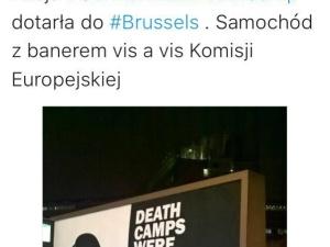 "Billboard ""German Death Camps"" przyjechał do Brukseli"