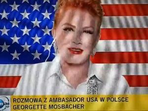 """[video] """"Rząd polski radzi sobie doskonale, czuję się tu bezpieczniej niż w NY"""". Mosbacher w... TVN24"""