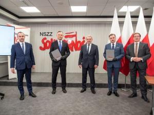 [Fotorelacja] Porozumienie programowe między Prezydentem Andrzejem Dudą a Solidarnością