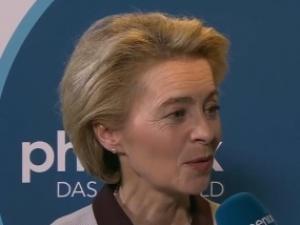 Szefowa KE zadowolona z propozycji budżetowych proponowanych przez Merkel i Macrona