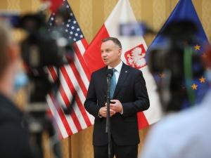 """Andrzej Duda zapytany o broń jądrową w Polsce.""""Ja wiem, że pojawia się mnóstwo plotek..."""""""