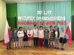 Jarasz: Zabrze.Z okazji 90. rocznicy ustanowienia hymnu Polski, odśpiewano go uroczyście w wielu szkołach