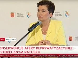 """Gronkiewicz-Waltz nie chce słyszeć o referendum! """"Wybrali mnie warszawiacy na całą kadencję"""""""