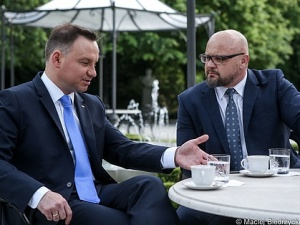 """Prezydent A. Duda: będę rozmawiał z przewodniczącym NSZZ """"Solidarność"""" panem Piotrem Dudą o referendum"""