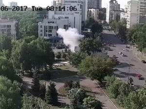 [video] Ukraiński oficer wywiadu zginął w zamachu bombowym