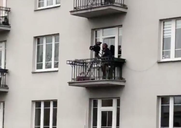 [Video] Co za zbieg okolicznosci! Kamera akurat przy podpalonym mieszkaniu!