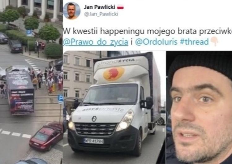 A. Pawlicki zablokował ciężarówkę pro-life. Jan Pawlicki zabiera głos: