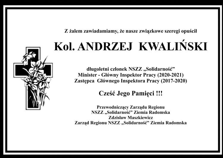 Pożegnanie Andrzeja Kwalińskiego