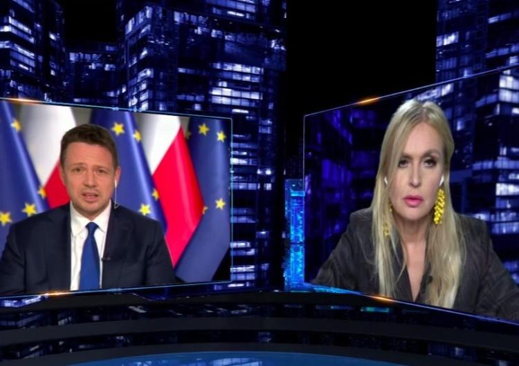 """Rafał Trzaskowski i Monika Olejnik [VIDEO] Już nawet Monika Olejnik kpi z Trzaskowskiego? """"Każdy musi zabrać łopatę"""""""