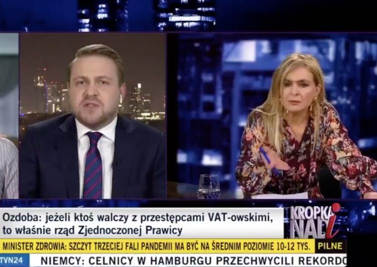 """[WIDEO] Awantura w """"Kropce nad i""""! Wiceminister doOlejnik: """"Pani jest politykiem PO?"""""""