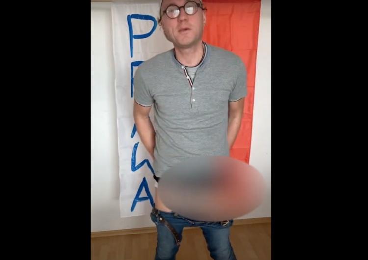 Aktywista LGBT kolejny raz znieważa polską flagę! Polityk Solidarnej Polski zgłasza sprawę do prokuratury