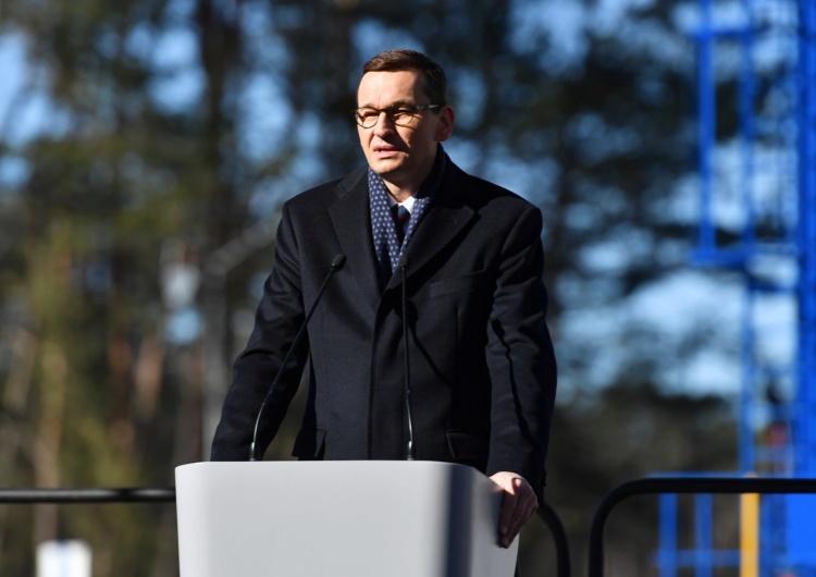 Mateusz Morawiecki na uroczystości rozpoczęcia inwestycji w Świnoujściu
