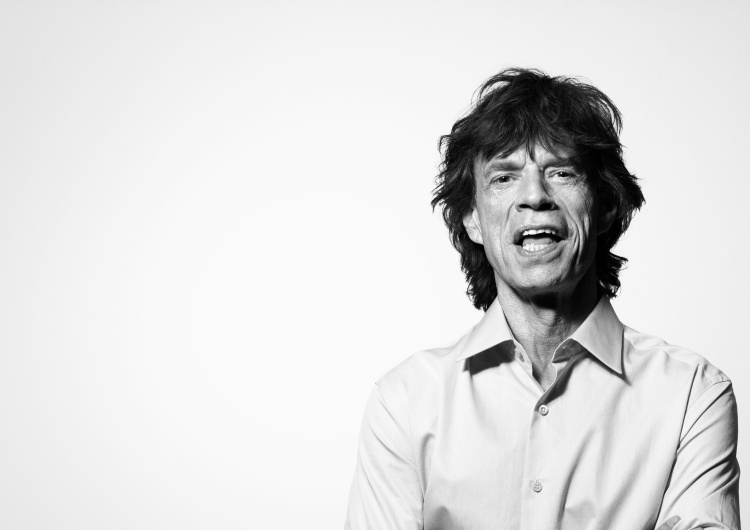 "Mick Jagger Mick Jagger z solowym utworem ""Eazy Sleazy"""