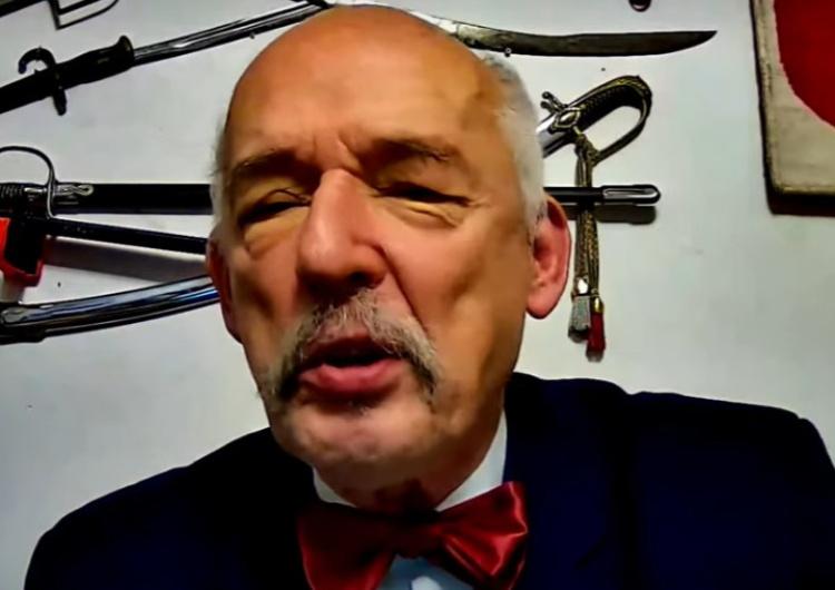 """Janusz Korwin-Mikke Korwin-Mikke kpi z """"protokołu 1%"""". """"Nie ma dowodu, że Hitler wiedział o Holokauście!"""""""
