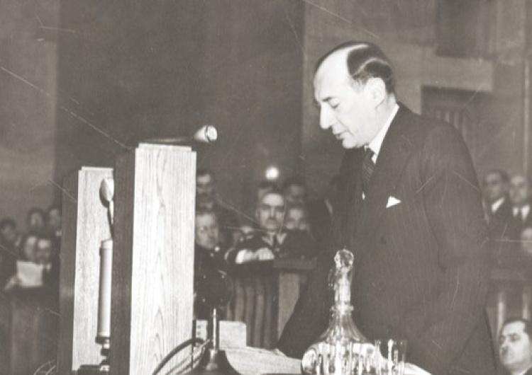 Józef Beck wygłaszający przemówienie w Sejmie 5 maja 1939 [Felieton