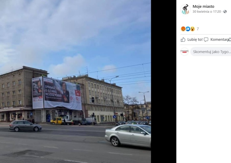 W Gdańsku-Wrzeszczu stanął gigantyczny baner reklamowy. Na