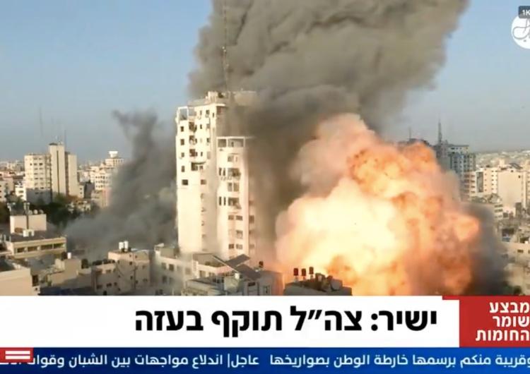 [WIDEO] Po izraelskim ataku runął kolejny wieżowiec w Strefie Gazy