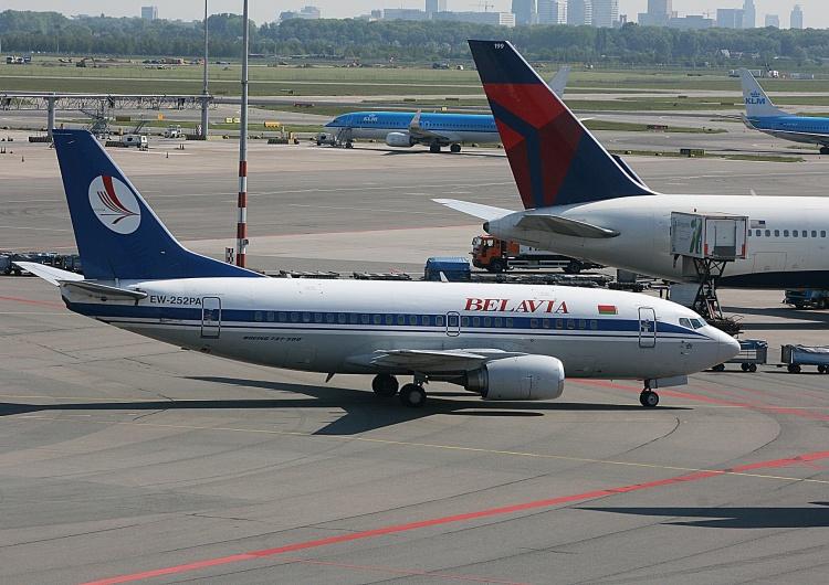 Samolot białoruskich linii lotniczych, zdjęcie ilustracyjne Europejskie lotniska zamknięte dla Białorusi? Nowe informacje z Brukseli