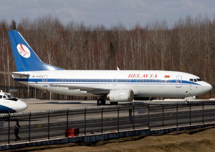 Samolot białoruskich linii lotniczych, zdjęcie ilustracyjne Unia Europejska zamknięta dla samolotów z Białorusi. Podano datę