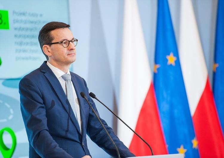 Premier Mateusz Morawiecki Morawiecki odpowiada na apel KE.
