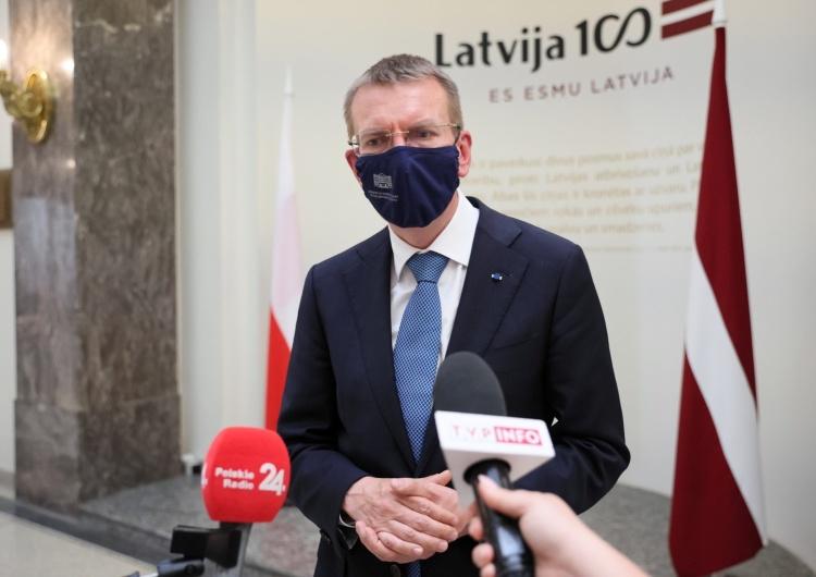 Minister spraw zagranicznych Łotwy Edgars Rinkevics