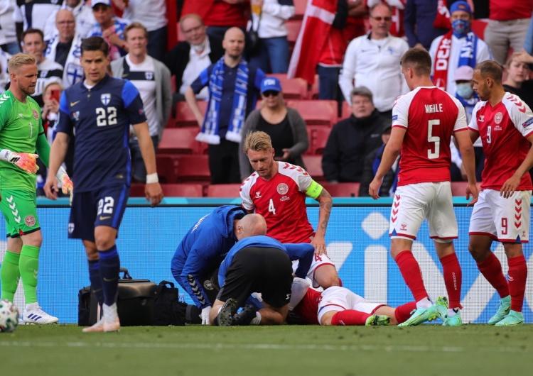 Christian Eriksen reanimowany Duńska telewizja: Christian Eriksen miał podczas meczu EURO 2021 atak serca