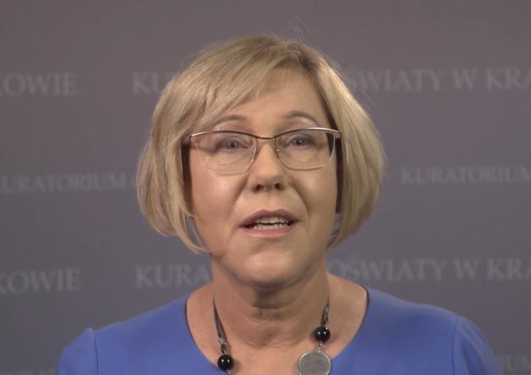 Barbara Nowak - Małopolski Kurator Oświaty Barbara Nowak: Podczas Strajku Kobiet dzieci były częstowane alkoholem i narkotykami