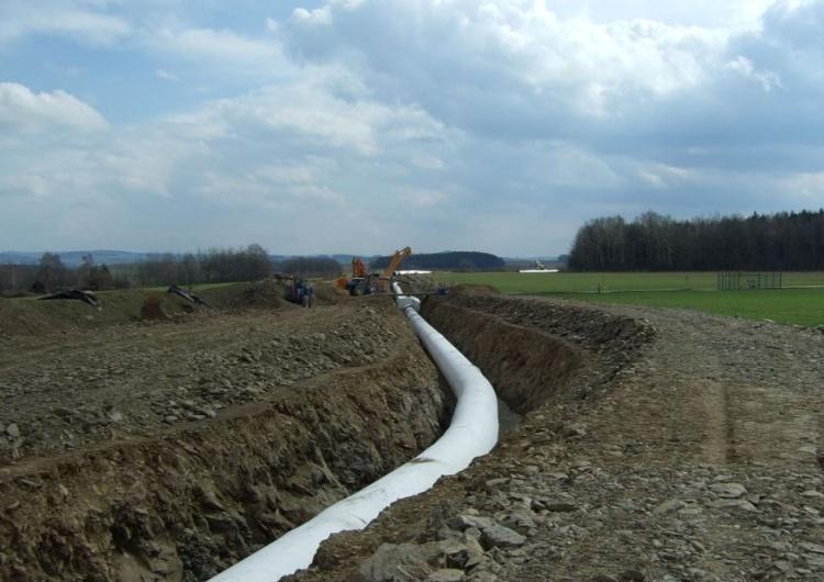 Rura gazociągu OPAL w pobliżu miejscowości Weißenborn/Erzgeb. w Niemczech Prezes PGNiG: