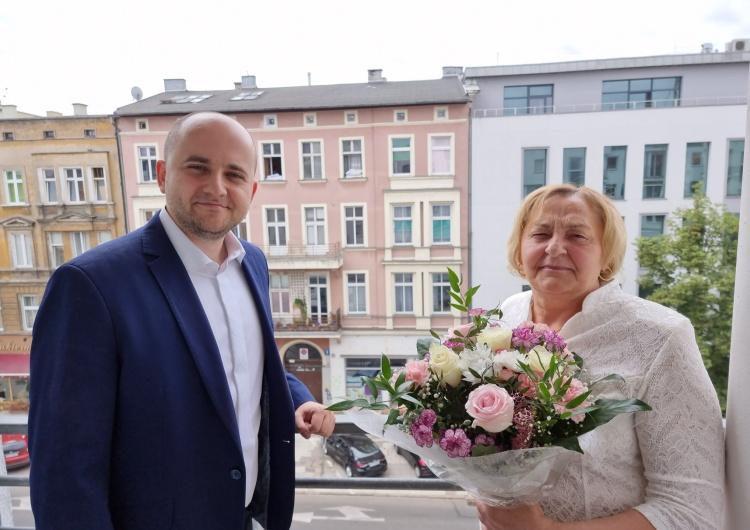 Dariusz Matecki i Jadwiga Kamińska