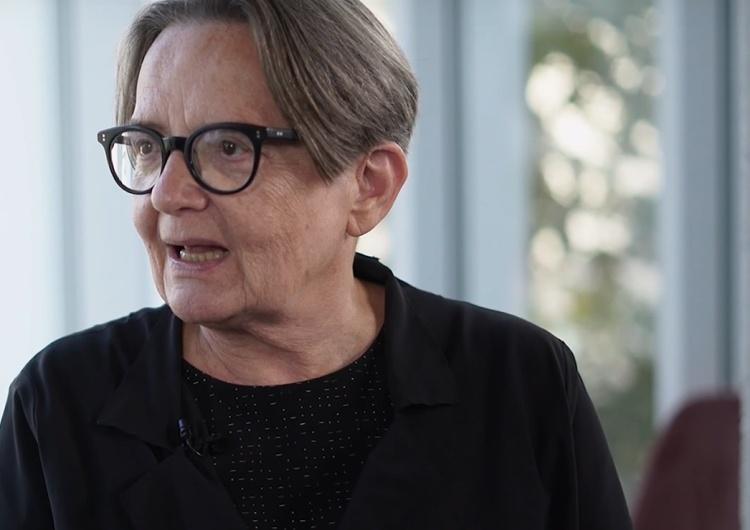 Agnieszka Holland Holland porównuje Straż Graniczną do strzelających do uciekinierów strażników Muru Berlińskiego a Podlasian nazywa