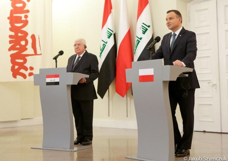 Jakub Szymczuk/ KPRP [video] Wizyta prezydenta Iraku w Polsce. Andrzej Duda: Liczymy, że dojdzie do podpisania umów