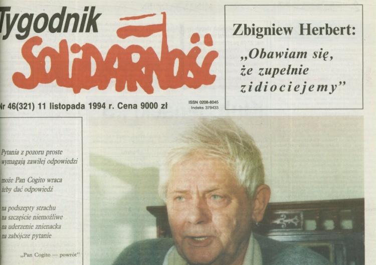 """[Tylko na Tysol.pl] Słynnego wywiadu TS ze Zbigniewem Herbertem Cz. 1. """"Pojedynki Pana Cogito"""""""