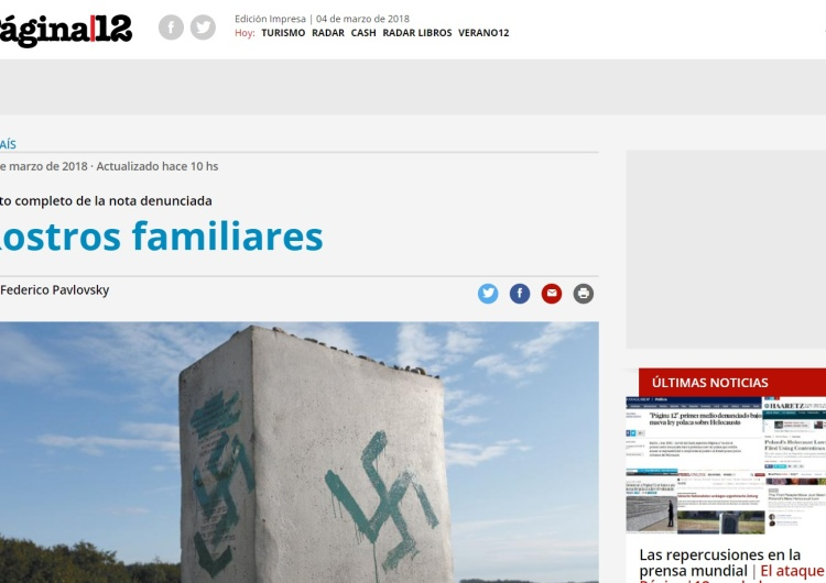 Krysztopa: Presja ma sens. Argentyński portal zmienił zdjęcie ilustrujące tekst o Jedwabnem