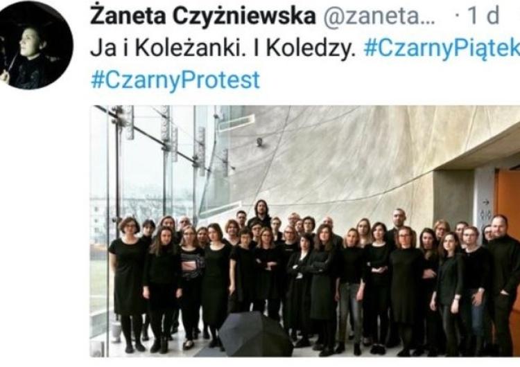 Pracownicy Muzeum Historii Żydów Polskich POLIN poparli Czarny Piątek. Internauci komentują