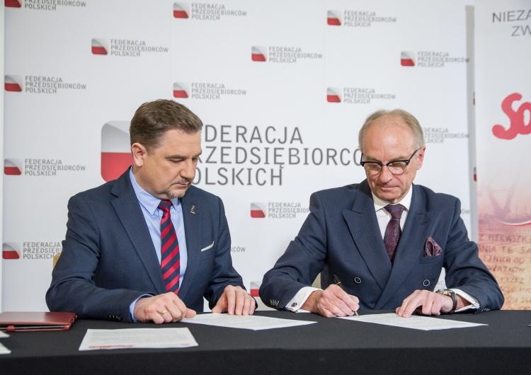Marcin Żegliński [+ Nasza Fotorelacja] Solidarność i pracodawcy: wyższe składki ZUS od zleceń