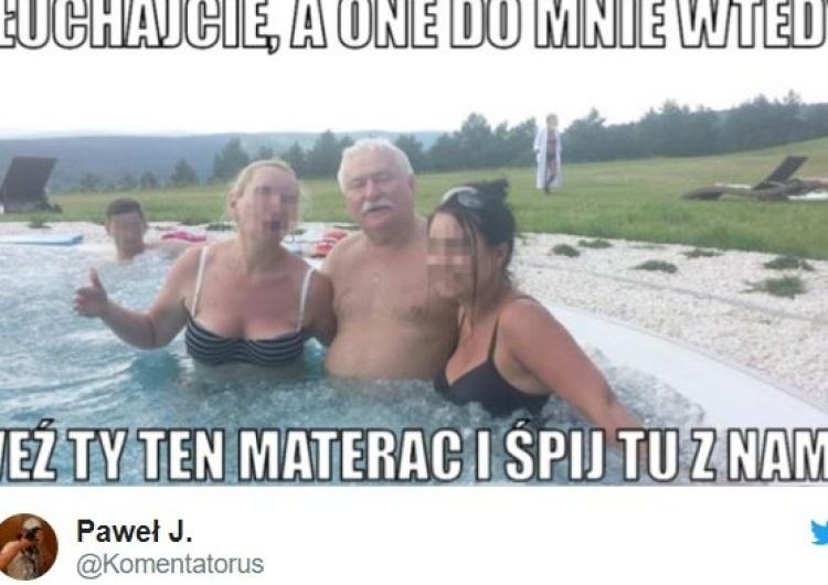 """""""A one do mnie wtedy: weź ten materac i śpij z nami!"""". Zobacz memy po wizycie Lecha Wałęsy w Sejmie"""
