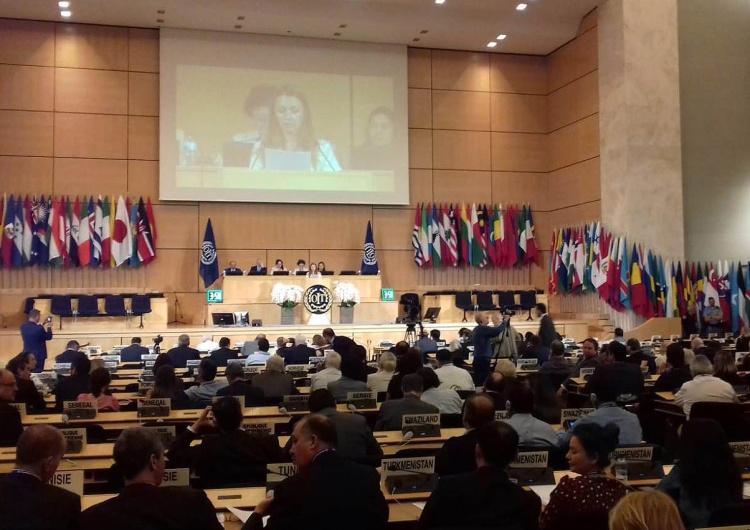 Sesja plenarna Międzynarodowej Organizacji Pracy