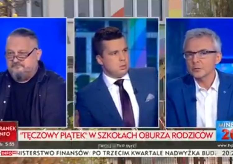 """[video] Strzeżcie dzieci. Lewicowy aktywista w TVP Info o """"7-letnich lesbijkach"""" i """"8-letnich gejach"""""""