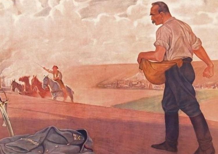 """Józef Piłsudski jako siewca"""" - Józef """"Świrysz"""" Ryszkiewicz [Na Święto Pracy] Józef Piłsudski o pracy zbiorowej"""